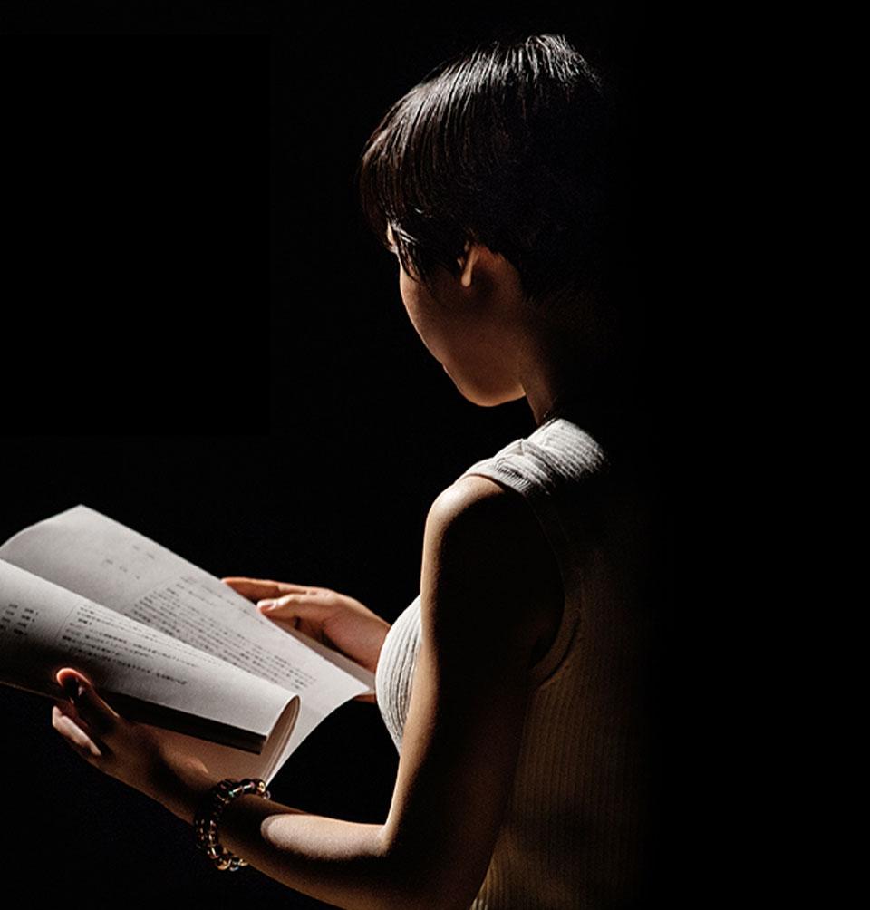 朗読する環